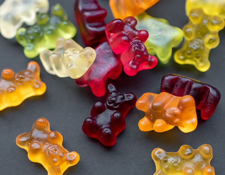 Multicoloured gummy bears